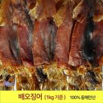 배오징어 (1kg기준) 최상급 배에서 말린 오징어(9~12마리) 포항 죽도시장
