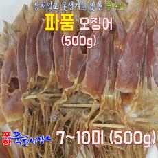 일반 파품오징어(500g)7~10미)/ 마른 오징어 /구멍나고 상처난 파지오징어 / 동해안산/포항 죽도시장